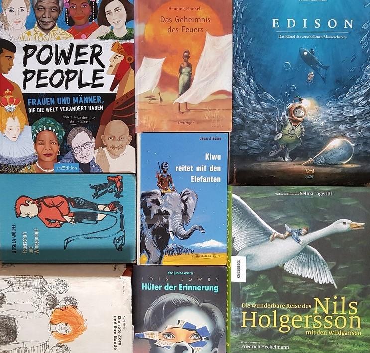 Auswahl an Büchern für Jungs