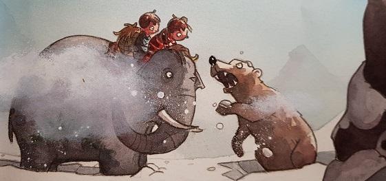 ein Bär greift an