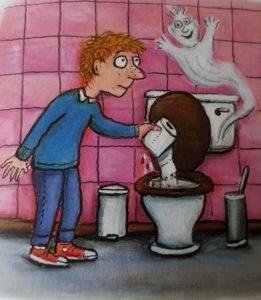 """In der Gespenstergeschichte entdeckt Zippel das Wunder """"Toilette"""""""
