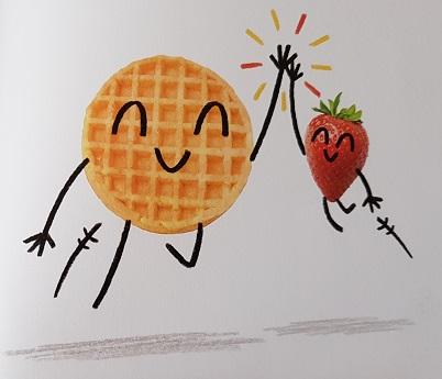 Super Waffel und sein geheimer Gehilfe Erdbeer