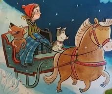 Winterliches Abenteuer mit tierischen Freunden